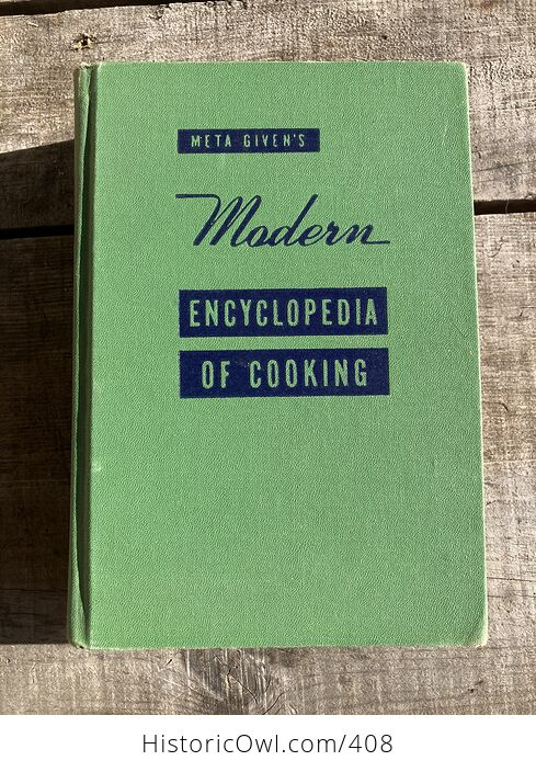 Meta Givens Modern Encyclopedia of Cooking Volume Ii Vintage Book Copyright 1949 - #tmNSSePtqdk-1