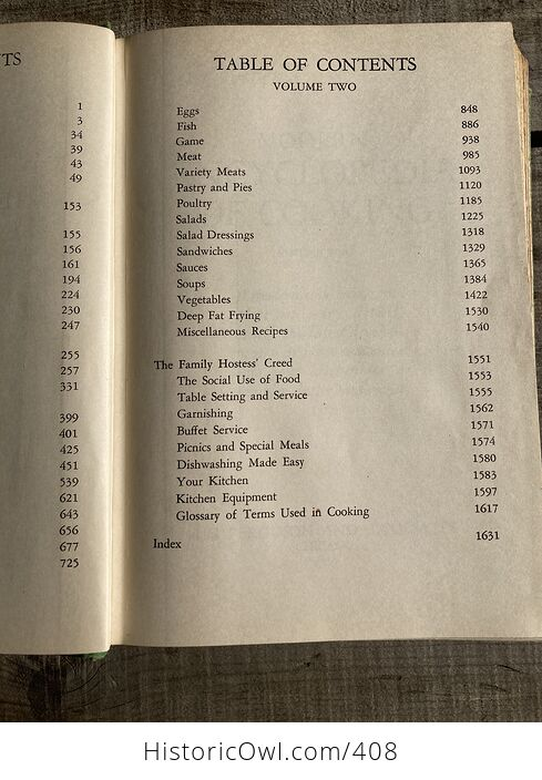 Meta Givens Modern Encyclopedia of Cooking Volume Ii Vintage Book Copyright 1949 - #tmNSSePtqdk-7