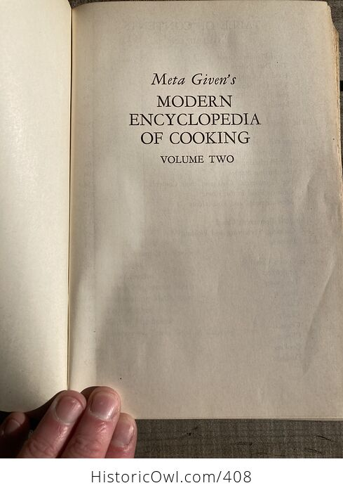 Meta Givens Modern Encyclopedia of Cooking Volume Ii Vintage Book Copyright 1949 - #tmNSSePtqdk-5