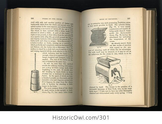 Milch Cows and Dairy Farming Antique Illustrated Book by Charles L Flint C1859 - #i29Hij4XmDQ-8