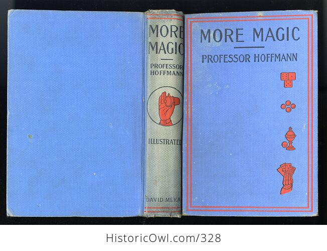 More Magic Antique Illustrated Book by Professor Hoffmann David Mckay Publishers C1890 - #P7mHEv8PoNg-2