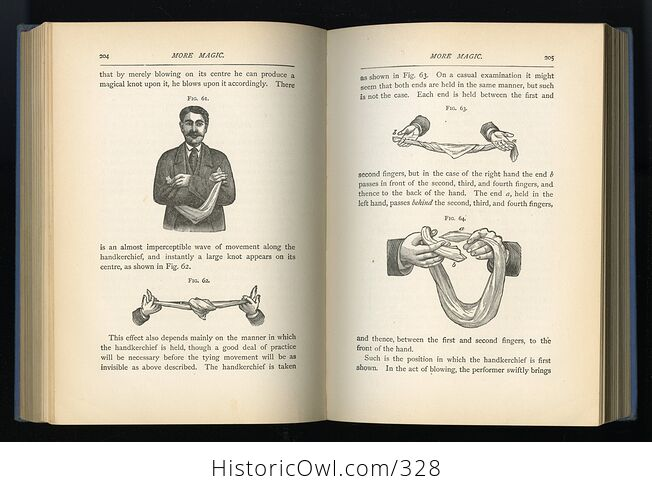 More Magic Antique Illustrated Book by Professor Hoffmann David Mckay Publishers C1890 - #P7mHEv8PoNg-10