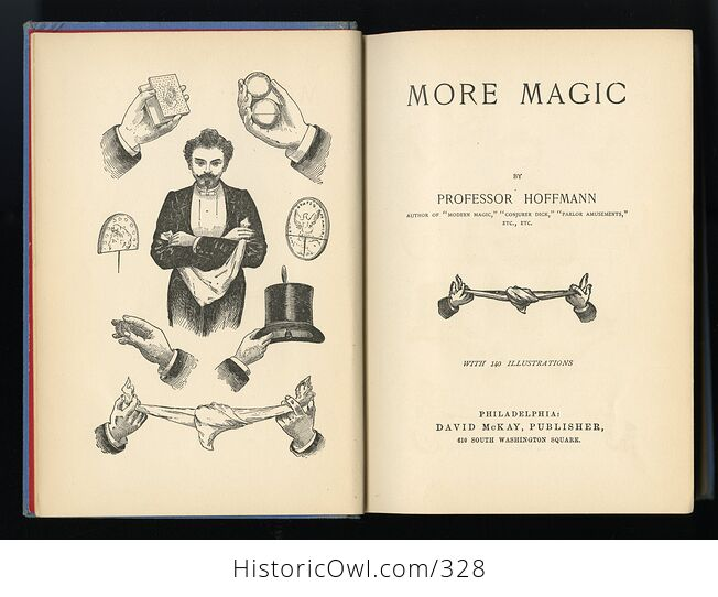 More Magic Antique Illustrated Book by Professor Hoffmann David Mckay Publishers C1890 - #P7mHEv8PoNg-3
