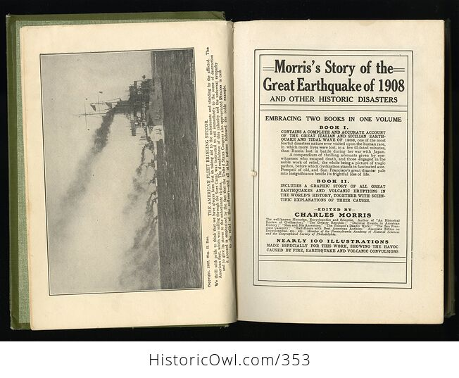 Morris Story of the Great Earthquake of 1908 and Other Historic Disasters by Charles Morris C1909 - #BBRhpGf5FOc-4