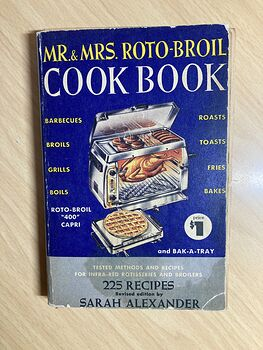 Mr and Mrs Roto Broil Cook Book C1955 #329sjJw7J8A