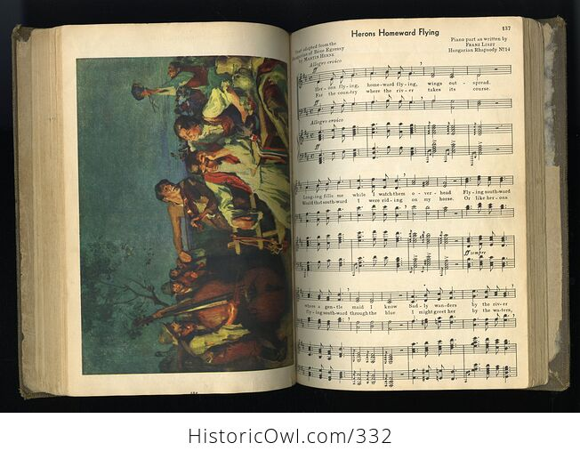 Music of Many Lands and Peoples Edited Antique Illustrated Book by Osbourne Mcconathy John W Beattie and Russell V Morgan C1932 - #CRRqQ6hfNDo-8