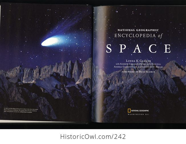 National Geographic Encyclopedia of Space Book by Linda K Glover with Andrew Chaikin Patricia S Daniels Andrea Gianopoulos and Jonathan T Malay and Foreword by Buzz Aldrin C2004 - #EP0lMI4JknM-2