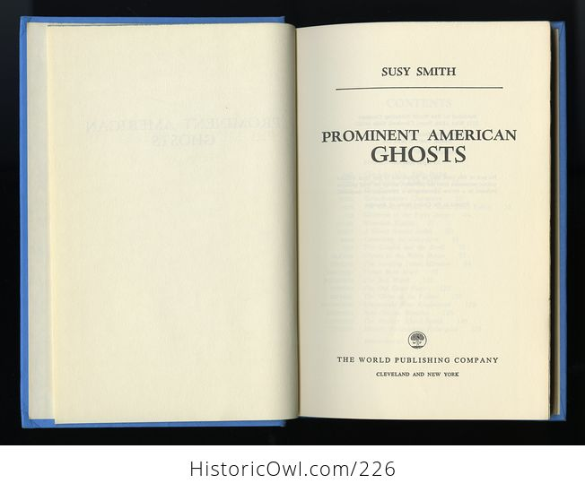 Prominent American Ghosts Book by Susy Smith C1967 - #G9rbl7vq0r8-4