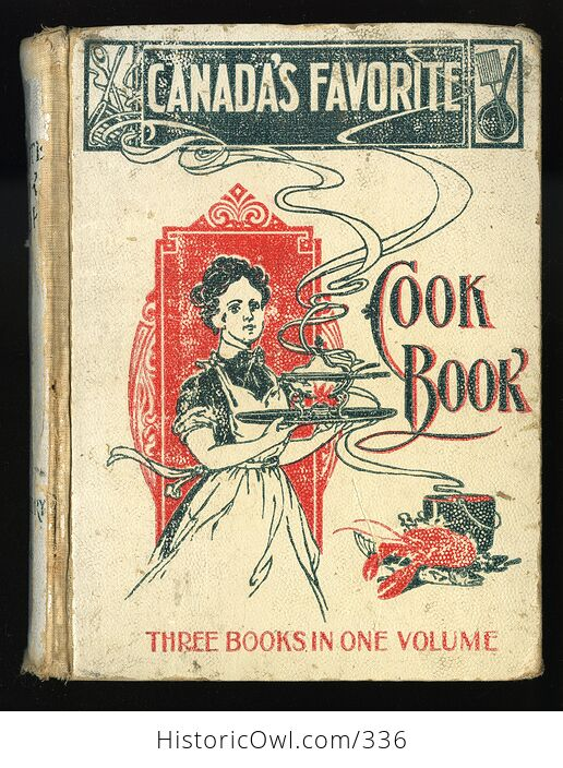 Rare Canadas Favorite Cook Book by Mrs Gregory and Friends C1900s - #ftdw7z2E92s-1