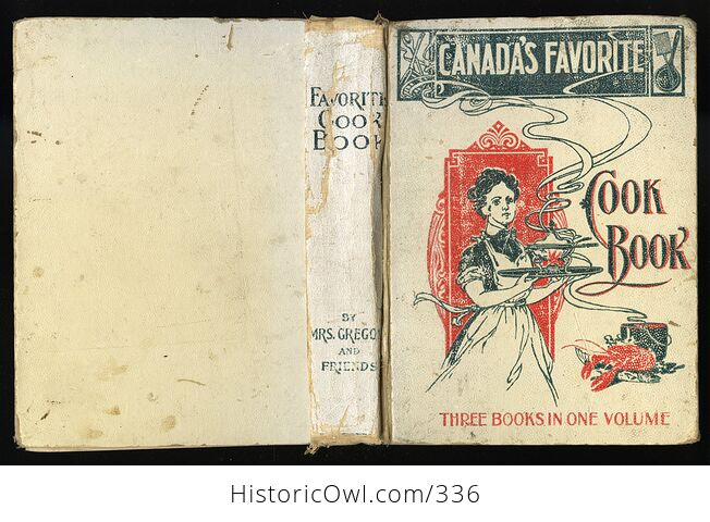 Rare Canadas Favorite Cook Book by Mrs Gregory and Friends C1900s - #ftdw7z2E92s-2