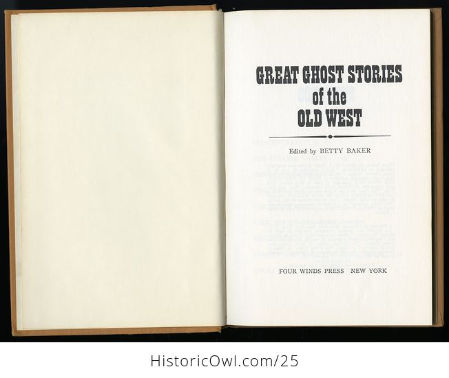 Retro Book Great Ghost Stories of the Old West Edited by Betty Baker C1968 - #K5ZErWftS2c-2