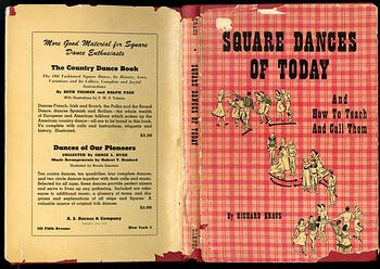 Retro Book Square Dances of Today and How to Teach and Call Them by Richard Kraus C1950 #dOk3NkaVnMg