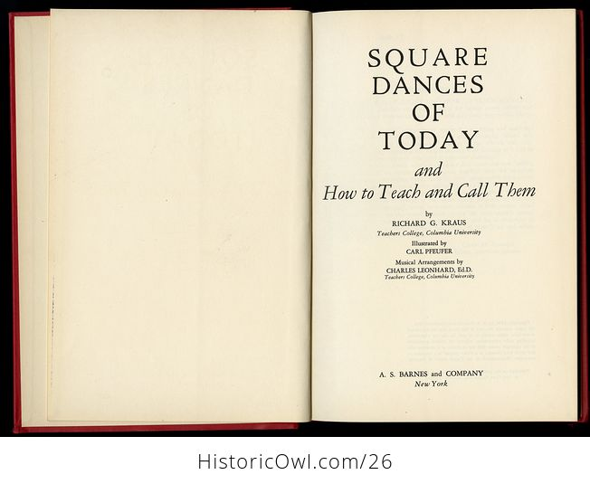 Retro Book Square Dances of Today and How to Teach and Call Them by Richard Kraus C1950 - #dOk3NkaVnMg-4