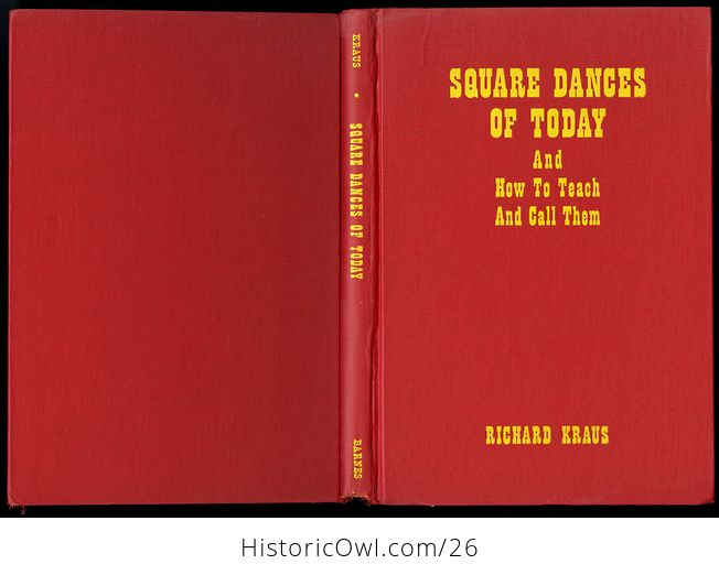 Retro Book Square Dances of Today and How to Teach and Call Them by Richard Kraus C1950 - #dOk3NkaVnMg-2