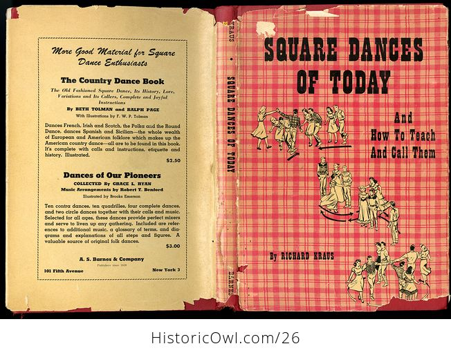 Retro Book Square Dances of Today and How to Teach and Call Them by Richard Kraus C1950 - #dOk3NkaVnMg-1