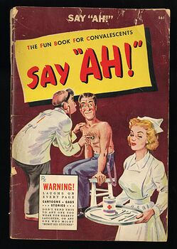 Say Ah the Fun Book for Convalescents Vintage Laughs Cartoons and Gag Stories by R M Barrows C1944 #9B0fo0AfHJI