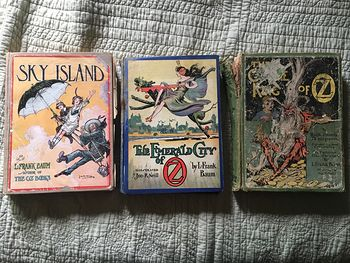 Set of L Frank Baum Books the Emerald City of Oz the Gnome King of Oz Sky Island the Reilly and Lee Co and Illustrated by John R Neill #WPERG28vUdg