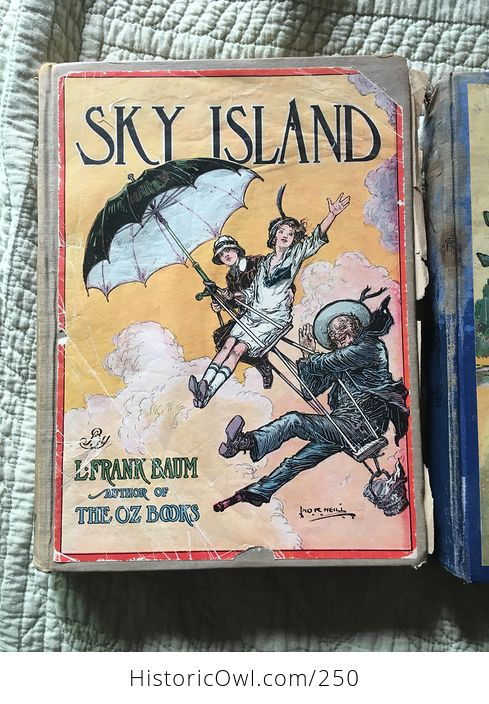 Set of L Frank Baum Books the Emerald City of Oz the Gnome King of Oz Sky Island the Reilly and Lee Co and Illustrated by John R Neill - #WPERG28vUdg-3