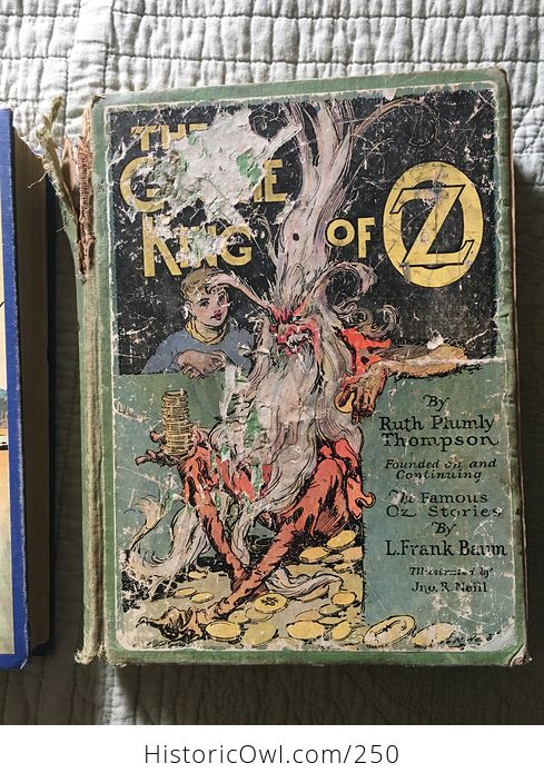 Set of L Frank Baum Books the Emerald City of Oz the Gnome King of Oz Sky Island the Reilly and Lee Co and Illustrated by John R Neill - #WPERG28vUdg-5