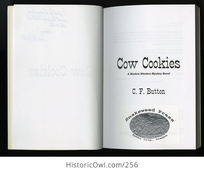 Signed Cow Cookies Book by Cf Button C2004 - #rjl14s2MgY4-4