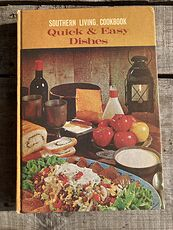 Southern Living Cookbook Quick and Easy Dishes C1968 #Ka9Rf246B48