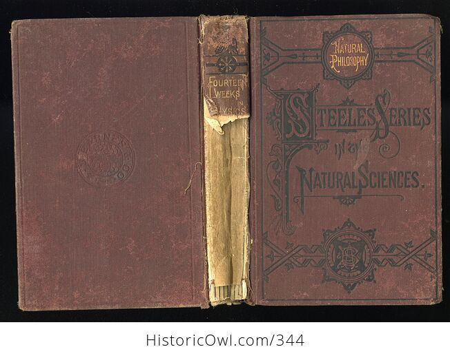 Steeles New Physics Fourteen Weeks in Physics Antique Illustrated Book by J Dorman Steele C1878 - #3QTqFNeTLiM-2