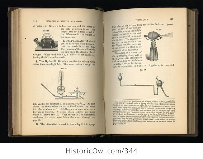 Steeles New Physics Fourteen Weeks in Physics Antique Illustrated Book by J Dorman Steele C1878 - #3QTqFNeTLiM-6