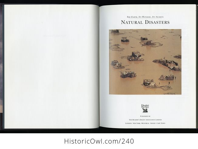 The Earth Its Wonders Its Secrets Natural Disasters Book by Readers Digest C1997 - #y5Cu4L4dN8Y-6