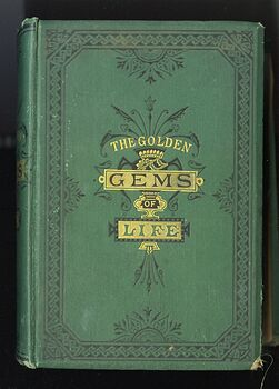 The Golden Gems of Life or Gathered Jewels for the Home Circle Antique Illustrated Book by Sc Ferguson and Ea Allen C1883 #gXYGWP04aog