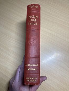 The Light That Failed Antique Book by Rudyard Kipling Swastica Embossed C1912 #GVRAWZ9Y13k