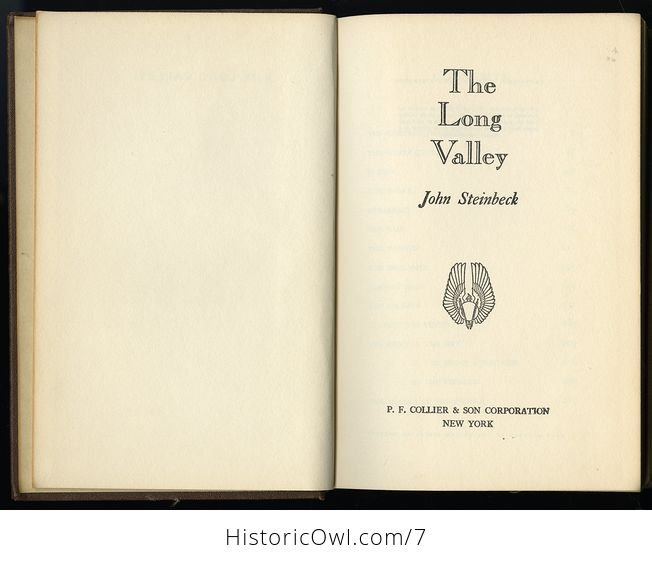 The Long Valley John Steinbeck 1938 - #LFPujYowLVA-2