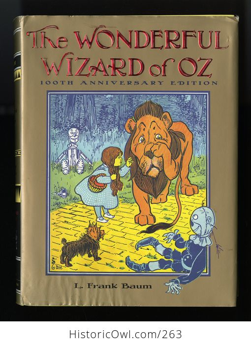 The Wonderful Wizard of Oz 100th Anniversary Edition Hardcover Book L Frank Baum C1987 - #X0l6E6pPw8g-1