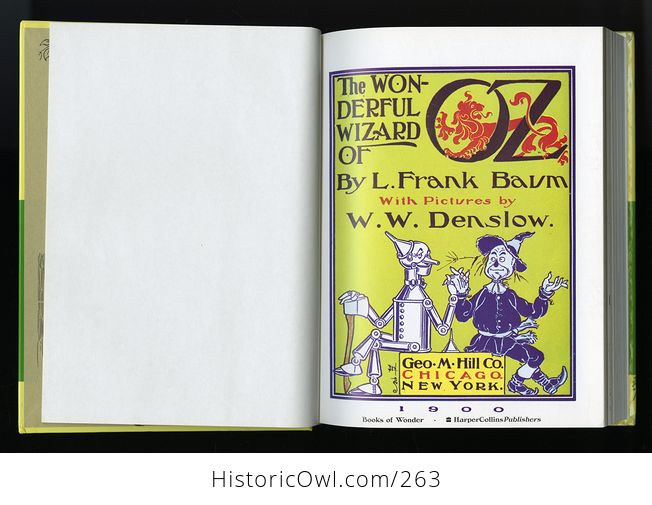 The Wonderful Wizard of Oz 100th Anniversary Edition Hardcover Book L Frank Baum C1987 - #X0l6E6pPw8g-7