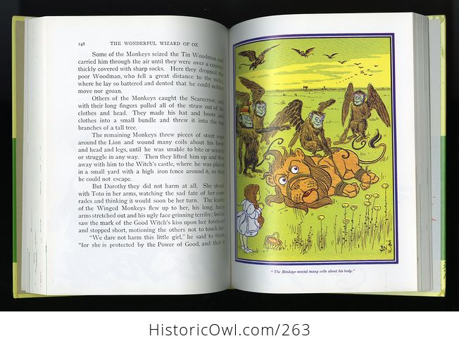 The Wonderful Wizard of Oz 100th Anniversary Edition Hardcover Book L Frank Baum C1987 - #X0l6E6pPw8g-10