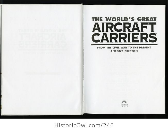 The Worlds Great Aircraft Carriers from the Civil War to the Present by Antony Preston C1999 - #w78pxievp2w-4