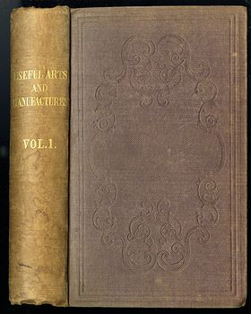 Two Volume Set Illustrated Books the Useful Arts and Manufactures of Great Britain C 1854 #6n3l5LkXoU0