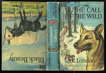 Vintage 2 Books in One the the Call of the Wild by Jack London and Black Beauty by Anna Sewell C1963 #lZ0qxiAAEv0