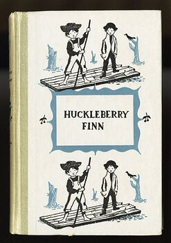 Vintage Adventures of Huckleberry Finn Illustrated Book by Mark Twain Junior Deluxe Editions C1954 #DBLXRKzuEiY