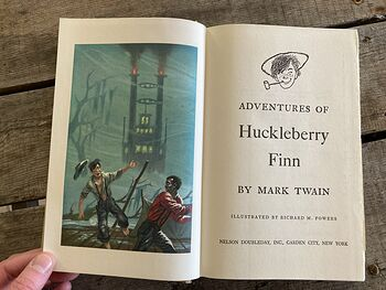 Vintage Adventures of Huckleberry Finn Illustrated Book by Mark Twain Junior Deluxe Editions C1954 #yaGoQqnEZ2s