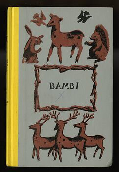Vintage Bambi Illustrated Book by Felix Salten Junior Deluxe Editions C1956 #JoMADFYVKUU