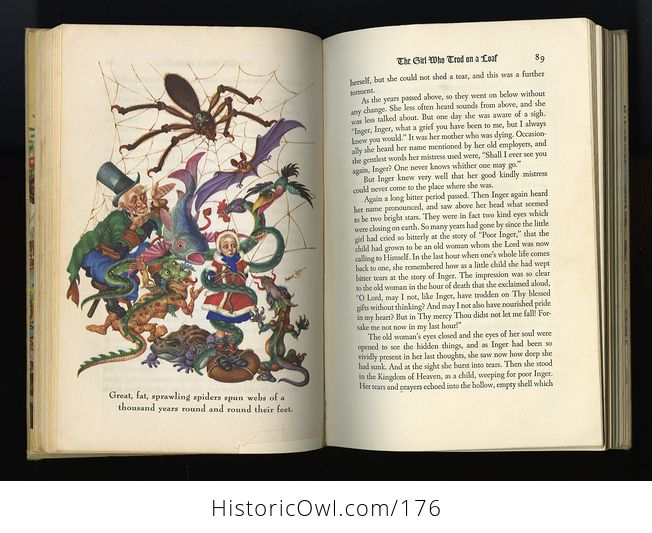 Vintage Book Andersens Fairy Tales Illustrated by Arthur Szyk C1945 - #id4wdqzrjnQ-4