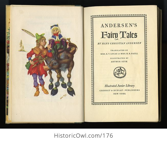 Vintage Book Andersens Fairy Tales Illustrated by Arthur Szyk C1945 - #id4wdqzrjnQ-8