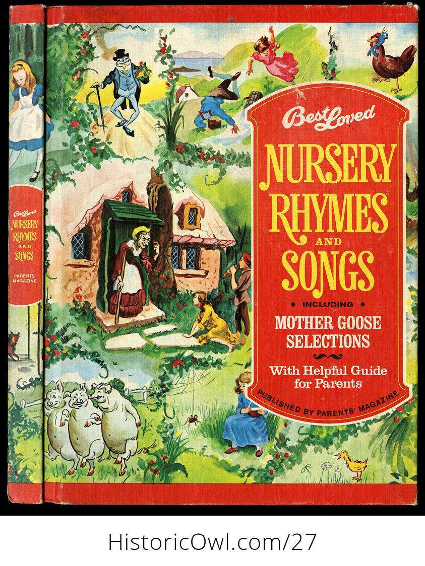 Vintage Book Best Loved Nursery Rhymes