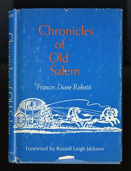 Vintage Book Chronicles of Old Salem a History in Miniature by Frances Diane Robotti C1948 #fWYQHwdyAb4