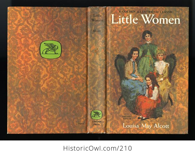 Vintage Book Little Women a Golden Illustrated Classic Abridged Edition by Louisa May Alcott Illustrated by David K Stone C1965 - #OfX88MrNaqQ-3
