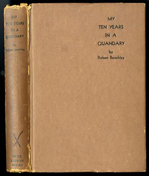 Vintage Book My Ten Years in a Quandary and How They Grew by Robert Benchley C 1940 #EIBbNQTBfBM