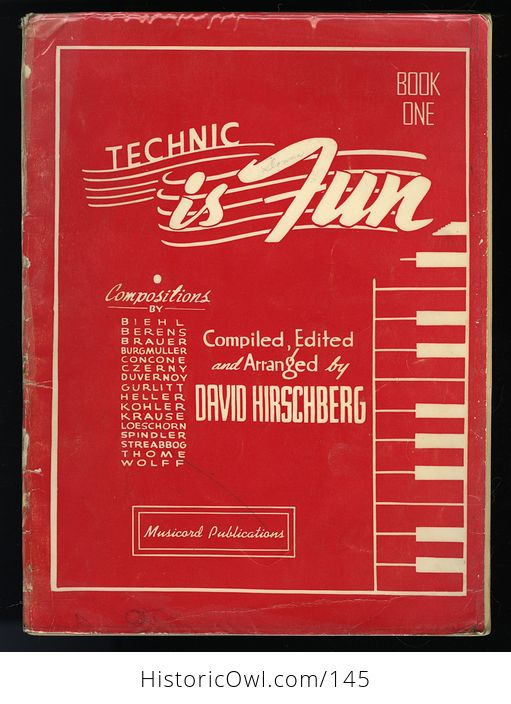 Vintage Book Technic Is Fun Book One by David Hirschberg C1941 - #c3FGYslDuTA-1