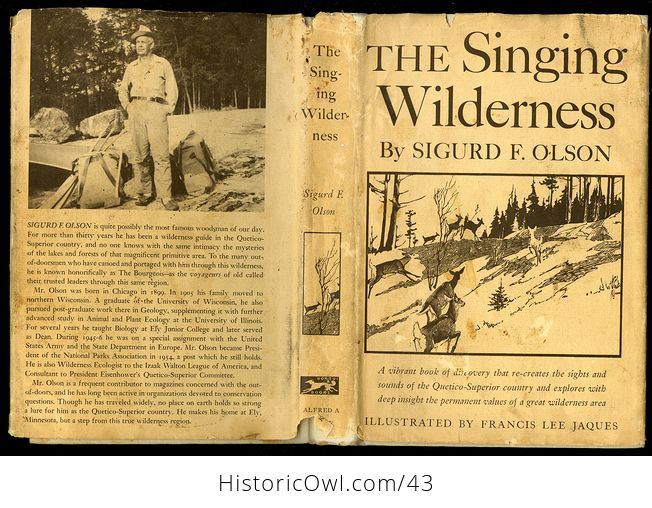 Vintage Book the Singing Wilderness by Sigurd F Olson C 1957 - #QbSzqbOIedA-10