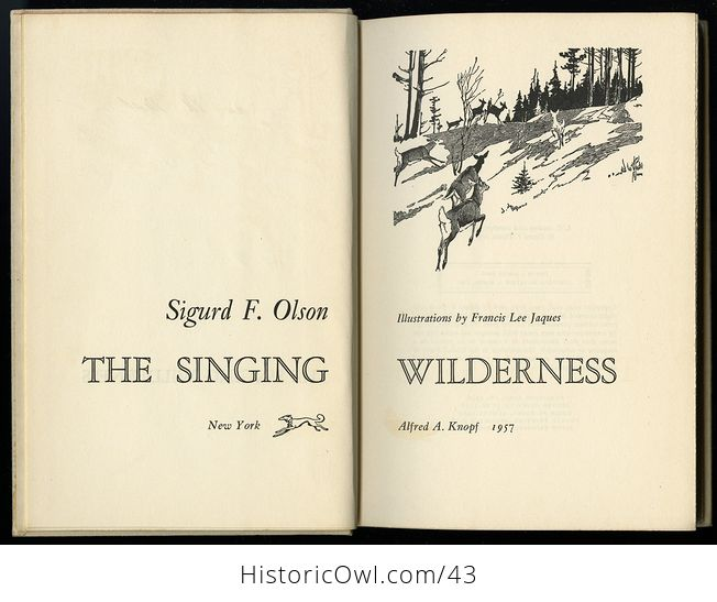 Vintage Book the Singing Wilderness by Sigurd F Olson C 1957 - #QbSzqbOIedA-9