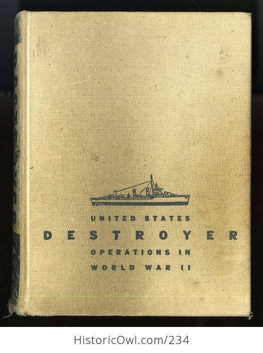 Vintage Book United States Destroyer Operations in World War Ii by Theodore Roscoe C1953 - #0r76vexMAfs-1